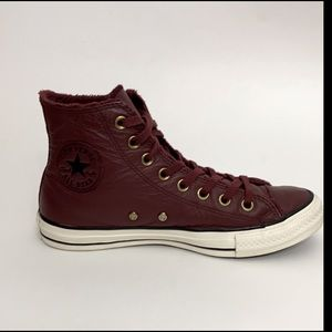 Converse Leather High-Top Sneakers with lining